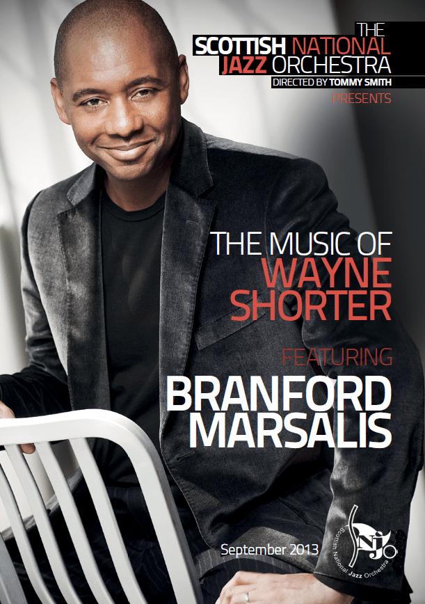 SNJO programme Branford Marsalis, The Music of Wayne Shorter